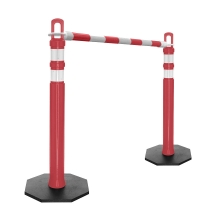 Retractable Delineator Bar Red & White
