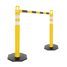 Retractable Delineator Bar Black & Yellow
