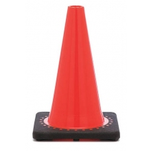 "12"" Orange Traffic Cone Black Base, 1.5 lbs"