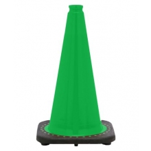 "18"" Kelly Green Traffic Cone Black Base, 3 lbs"
