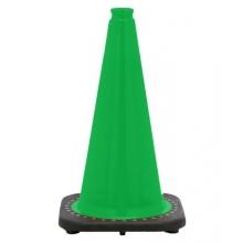 "18"" Kelly Green Traffic Cone Black Base, 3 lbs"