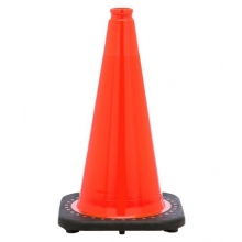 "18"" Orange Traffic Cone Black Base, 3 lbs"