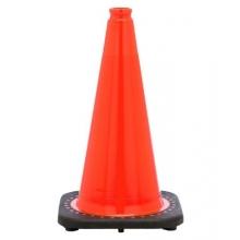 "18"" Orange Traffic Cone Black Base, 3 lbs"