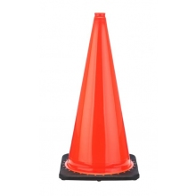 "28"" Orange Traffic Cone Black Base, 5.5 lbs"
