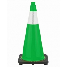 "28"" Kelly Green Cone Black Base, 7 lbs w/6"" Reflective Collar"