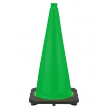 "28"" Kelly Green Traffic Cone Black Base, 7 lbs"