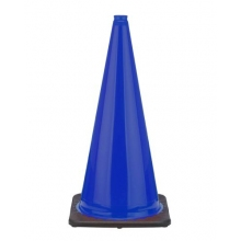 "28"" Navy Blue Traffic Cone Black Base, 7 lbs"