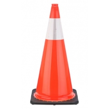"Buy 28"" Orange Traffic Cone Black Base, 7lbs w/6"" Reflective Collar on sale online"