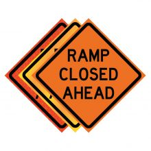 """Buy 36"""" x 36"""" Roll Up Traffic Sign - Ramp Closed Ahead on sale online"""