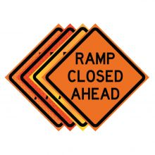 "Buy 36"" x 36"" Roll Up Traffic Sign - Ramp Closed Ahead on sale online"