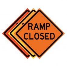 """Buy 36"""" x 36"""" Roll Up Traffic Sign - Ramp Closed on sale online"""