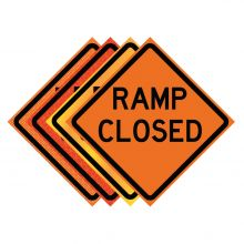 "Buy 36"" x 36"" Roll Up Traffic Sign - Ramp Closed on sale online"
