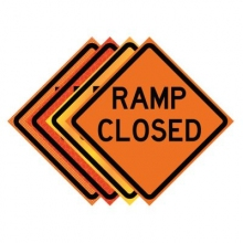 "36"" x 36"" Roll Up Traffic Sign - Ramp Closed"