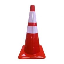 "Lakeside 28"" 7 lbs Red Traffic Cone with 4"" & 6"" Reflective Collars"