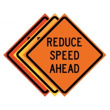 """Buy 36"""" x 36"""" Roll Up Traffic Sign - Reduce Speed Ahead on sale online"""