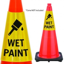 Reflective Cone Message Collar: Wet Paint