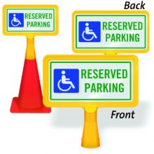ConeBoss Sign: Reserved Parking w/Handicapped Symbol