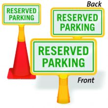ConeBoss Sign: Reserved Parking