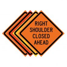"Buy 36"" x 36"" Roll Up Traffic Sign - Right Shoulder Closed Ahead on sale online"