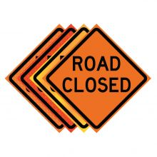 """Buy 36"""" x 36"""" Roll Up Traffic Sign - Road Closed on sale online"""