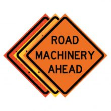 """Buy 36"""" x 36"""" Roll Up Traffic Sign - Road Machinery Ahead on sale online"""
