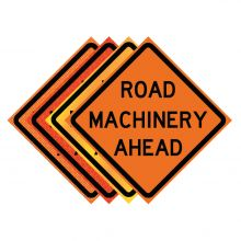 "Buy 36"" x 36"" Roll Up Traffic Sign - Road Machinery Ahead on sale online"