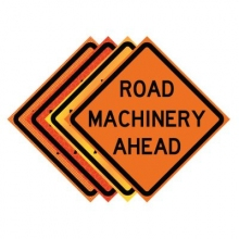 "36"" x 36"" Roll Up Traffic Sign - Road Machinery Ahead"