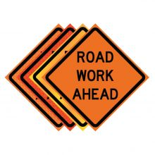 "Buy 36"" x 36"" Roll Up Traffic Sign - Road Work Ahead on sale online"