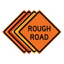 """Buy 36"""" x 36"""" Roll Up Traffic Sign - Rough Road on sale online"""