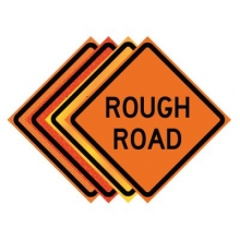 "36"" x 36"" Roll Up Traffic Sign - Rough Road"