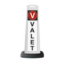 Valet White Vertical Panel w/Reflective Sign V2