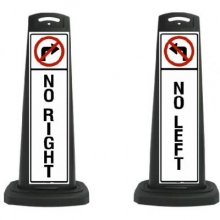 Valet Black Vertical Panel No Left/Right w/Reflective Sign P13
