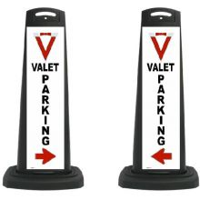 Buy Valet Black Vertical Panel Valet Parking/Red Arrow w/Reflective V13 on sale online