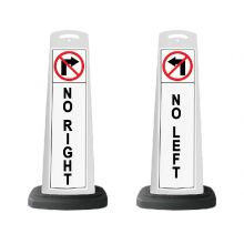 Buy Valet White Vertical Panel No Left/Right w/Reflective Sign P13 on sale online