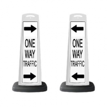 Valet White Vertical Panel Arrows/One Way Traffic w/Reflective Sign P41