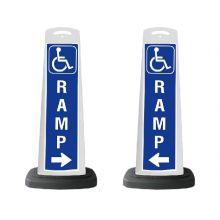 Buy Valet White Vertical Panel Handicap Ramp w/Reflective Sign P44 on sale online