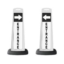 Buy Valet White Vertical Panel Entrance/Arrow w/Reflective Sign P64 on sale online