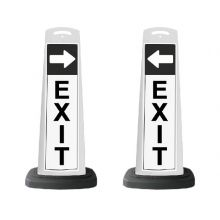 Buy Valet White Vertical Panel EXIT w/Arrow/Reflective Sign P7 on sale online