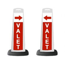 Buy Valet White Vertical Panel w/Red Arrow /Reflective Sign V5 on sale online
