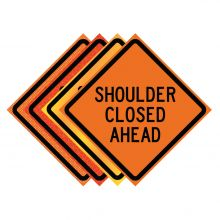 """Buy 36"""" x 36"""" Roll Up Traffic Sign - Shoulder Closed Ahead on sale online"""