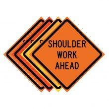 "Buy 36"" x 36"" Roll Up Traffic Sign - Shoulder Work Ahead on sale online"