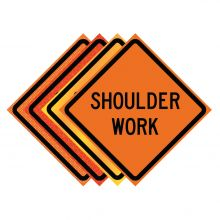 "Buy 36"" x 36"" Roll Up Traffic Sign - Shoulder Work on sale online"