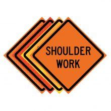 """Buy 36"""" x 36"""" Roll Up Traffic Sign - Shoulder Work on sale online"""