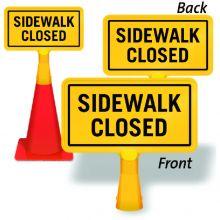 ConeBoss Sign: Sidewalk Closed