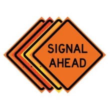 "36"" x 36"" Roll Up Traffic Sign - Signal Ahead"