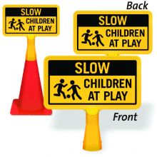 ConeBoss Sign: Slow - Children At Play