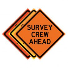"""Buy 36"""" x 36"""" Roll Up Traffic Sign - Survey Crew Ahead on sale online"""