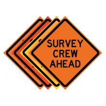 "Buy 36"" x 36"" Roll Up Traffic Sign - Survey Crew Ahead on sale online"