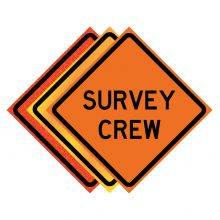 """Buy 36"""" x 36"""" Roll Up Traffic Sign - Survey Crew on sale online"""
