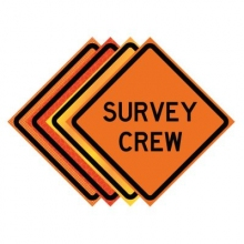 "36"" x 36"" Roll Up Traffic Sign - Survey Crew"
